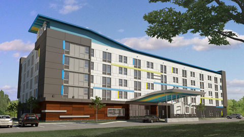 Rendering of Aloft Dallas Arlington Entertainment District