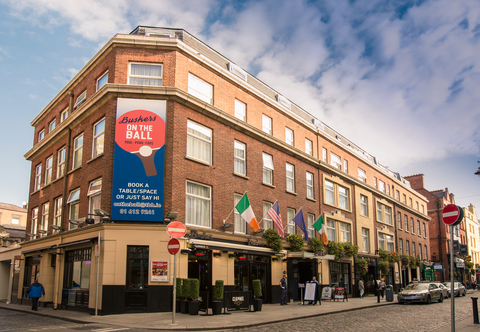 The exterior of The Temple Bar Hotel in Dublin, Ireland