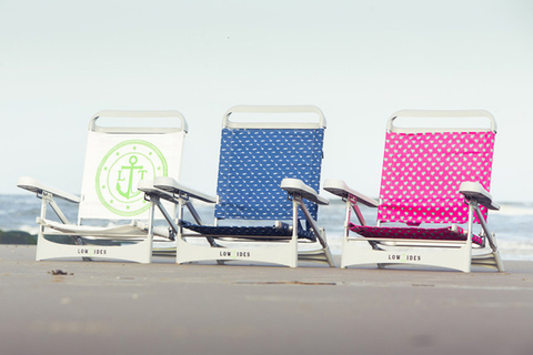 Lightweight, durable, and easy to fold, LowTides OP beach chairs are available in eight designs for adults and four fun ones for kids.