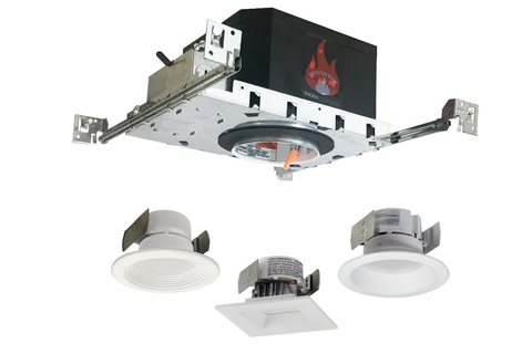 Nora Lighting introduced a redesigned series of two-hour fire-rated downlight housings that can be used in either LED dedicated or line voltage installations.