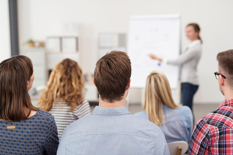 Employee training meeting