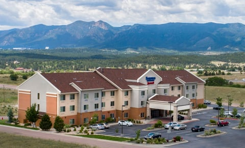 The exterior of the Fairfield Inn & Suites Colorado Springs North/Air Force Academy