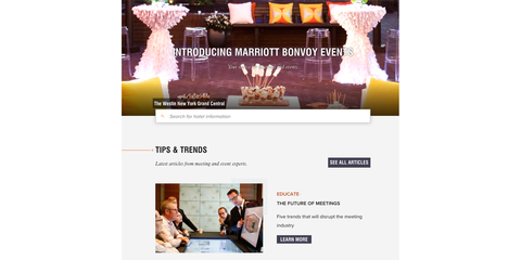 Marriott unveils new event platform