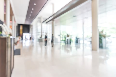 Blurry hotel lobby