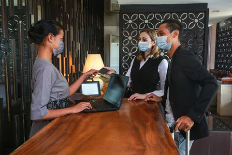 Hotel Front Desk Masks