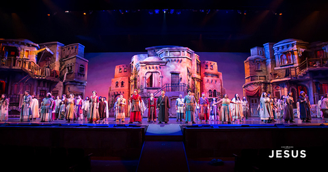 lighting and production design of Sight & Sound's Jesus