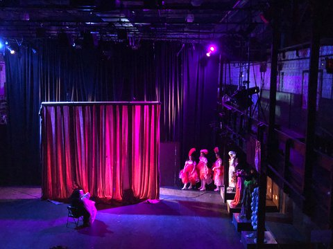 17 - backstage view of Cook Maid and Yakov waiting to enter cabaret.jpg