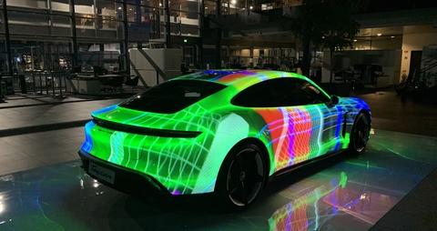 Hippotizer turbo-boosts Porsche Taycan launch