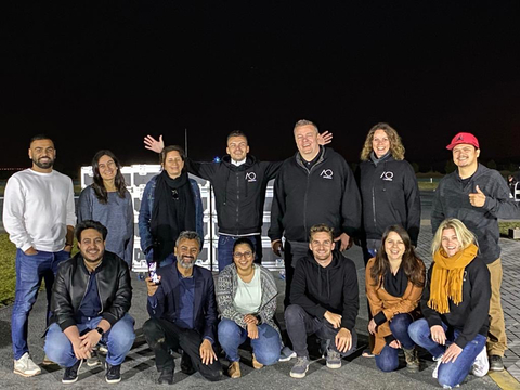 AO Drones launches the iconic Motorola Razr in the Dubai sky