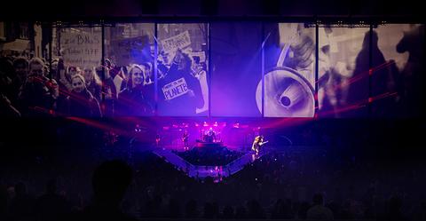 video design of Aerosmith Deuces are Wild Las Vegas Residency
