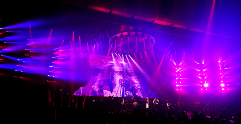 lighting design and stage design for Aerosmith Deuces are Wild Las Vegas Residency