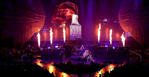 special effects design for Aerosmith Deuces are Wild Las Vegas Residency