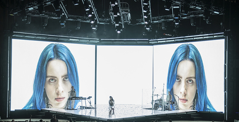 lighting design for Billie Eilish When We All Fall Asleep Tour