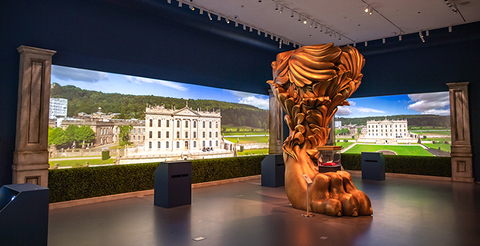 scenic design of Treasures of Chatsworth at Sotheby's New York