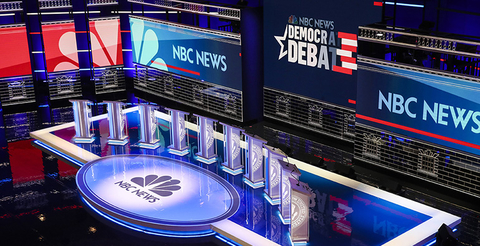 lighting design for first Democractic Debate 2020