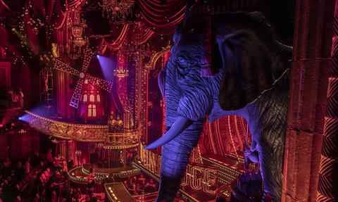 set design for Moulin Rouge Broadway