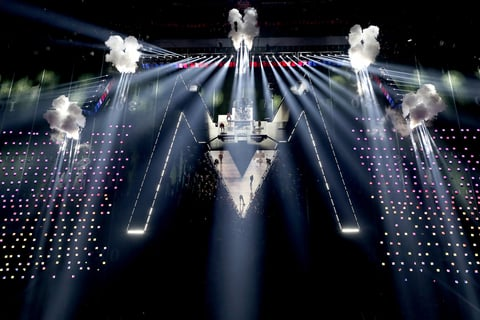 Super Bowl LIII Halftime Show lighting design by Bob Barnhart