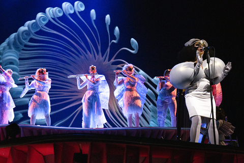lighting design and video design for Bjork's Cornucopia at The Shed