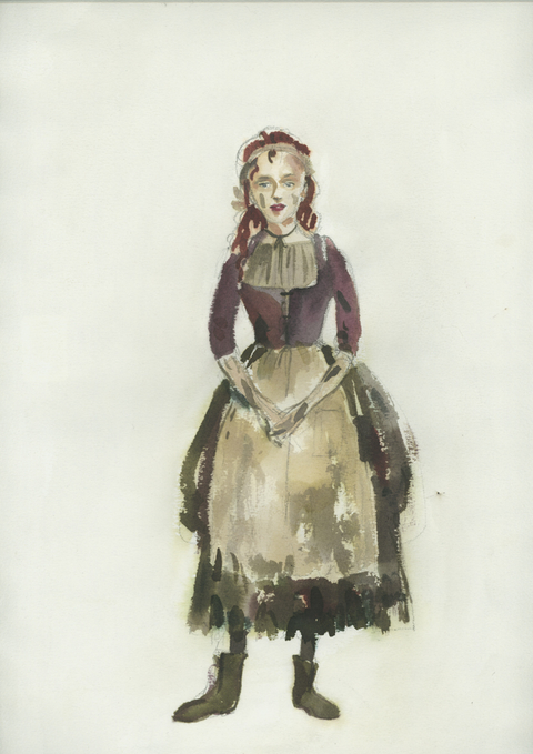 Costume sketch for Laura Benanti in Into the Woods