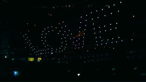 Intel Drones Light Show at Super Bowl LIII Halftime Show