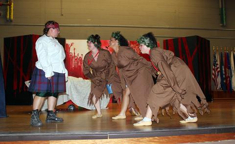 Macbeth set design Shakespeare in Prison