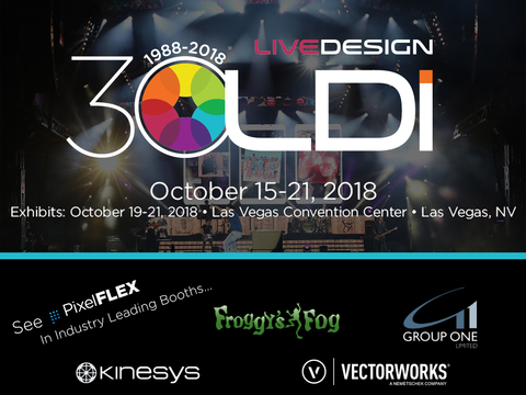 PixelFLEX heads to Vegas in four dynamic tradeshow displays at LDI 2018
