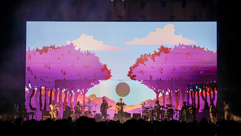 John Mayer Tour Stage Design and Screen Visuals