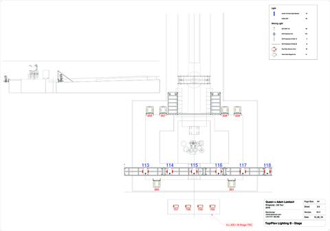 lighting plots for Queen + Adam Lambert Rhapsody Tour