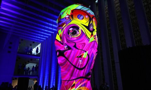 Sviatovid projection mapping sculpture