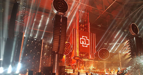 WIcreations Rammstein staging scenic elements