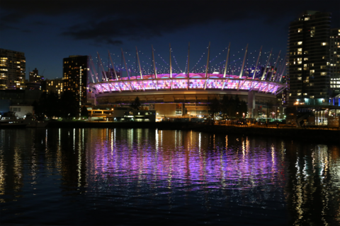 BC Place Stadium Roof Lighting