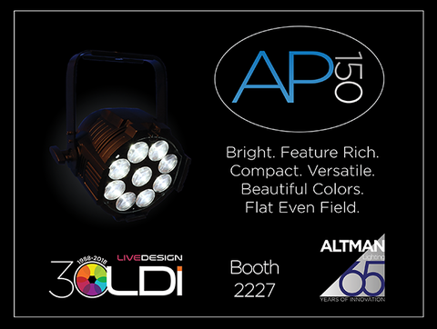 Altman Lighting to debut the next generation Altman Par at LDI 2018
