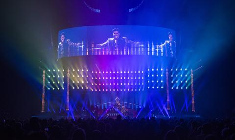 stage design and lighting design for Queen + Adam Lambert