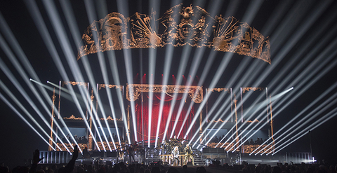 stage design and lighting design for Queen + Adam Lambert Tour
