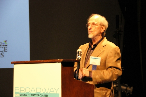 Jules Fisher accepts the Wally Russell Lifetime Achievement Award
