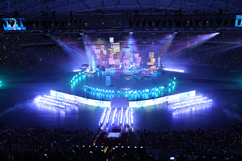 Mac Chan and Michael Chan had to consider bright lighting for broadcast the creation of a backdrop for cameras and 360deg lighting for a live audience when designing the lighting Showtec provided the lighting system including 400 Robe MBFL Blades 100 Robe BMFL Spots 100 DTS Raptors 72 Harman Martin Professional Mac Viper Profiles and 12 DTS Wonder fixtures all controlled by two MA Lighting grandMA2 fullsize consoles Javier Tan programmed thenbsplightingnbspa month in advance using Light Co
