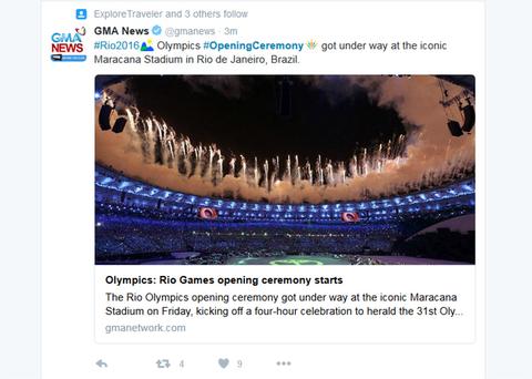 Rio2016 Olympics OpeningCeremony got under way at the iconic Maracana Stadium in Rio de Janeiro Brazil