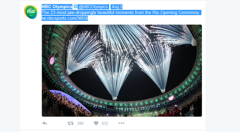 NBC Olympics Verified account  rlmNBCOlympics   Aug 5 The 23 most jawdroppingly beautiful moments from the Rio Opening Ceremony httptwnbcsportscom36D8
