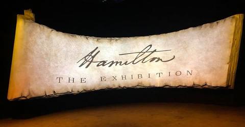 scenic design for Hamilton: The Exhibition
