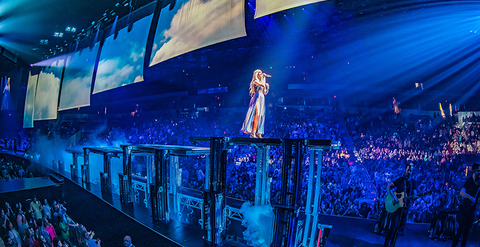 special effects for Carrie Underwood Cry Pretty 360 tour