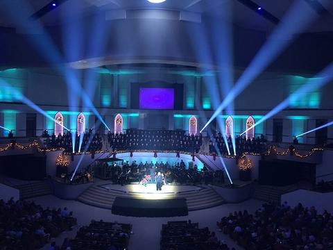 Huge LED retrofit at Olive Baptist Church includes Elation stage lighting |  LiveDesignOnline