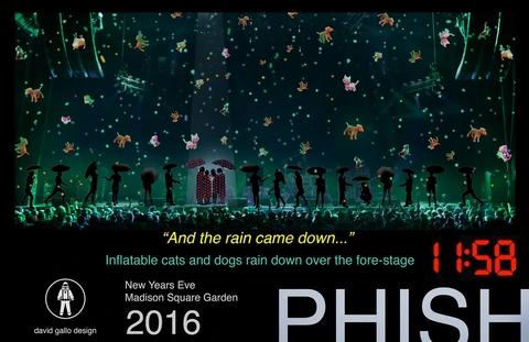 David Gallos storyboard for Phishs 2017 New Years gag