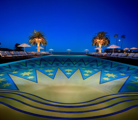 A view from the Mosaic Pool at Montage Laguna Beach