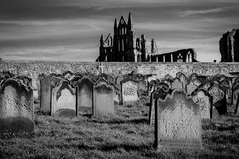 Whitby, England during Halloween