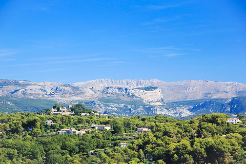 hillside villas and mountains in Mougins, France