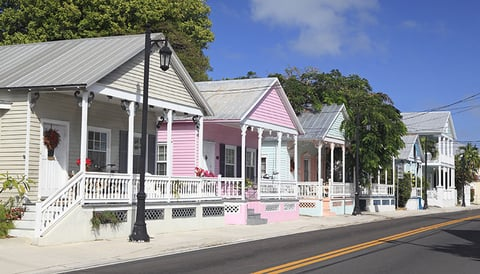 Colorful cottages in Key West, Florida