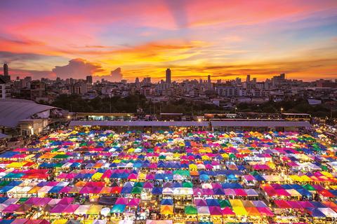 Bangkok Second Hand Market Tents