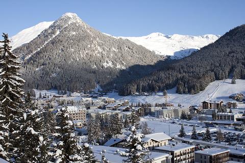 Panoramic view of Davos Switzerland