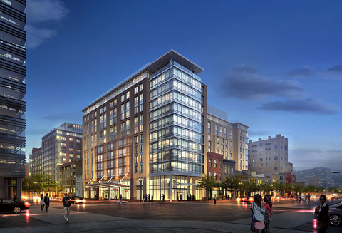 A rendering of Columbia Place in Washington, D.C.