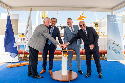 Regent Seven Seas Splendor Keel Laying Ceremony